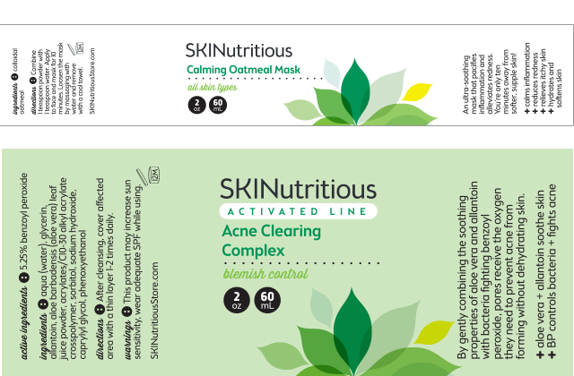 SKINutritious logo and product labels